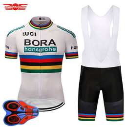 Wholesale mountain bike kit - Bora Cycling Jersey 2018 Pro Team Mountain bike clothing bicycle wear clothes Breathable Short Maillot Culotte cycling Kit