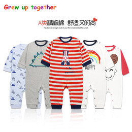 Wholesale Green Babies Organic Clothing - Baby jumpsuit autumn winter 6-12 months baby girl baby cotton khaki long sleeve autumn clothes newborn. Fashion and simple style.