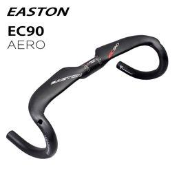 carbono de bicicleta de estrada aero Desconto 2018 EASTON EC90 guidão bicicleta ciclista de fibra de carbono AERO peças de bicicleta de estrada guiador 31.8mm * 400 420 440mm gota barra dobrada matte