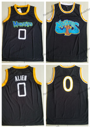 basketball black shirts Coupons - Mens Space Jam #0 Alien Monstars Tune Squad Basketball Jerseys Moive Black Alien Stitched Shirts S-XXL