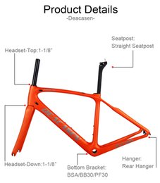 Wholesale road chinese - 2018 NEW DEACASEN Design Carbon Road Frame Chinese DEACASEN Carbon Bike Frame+Fork+Seatpost +Headset+Clamp EMS Free Shipping