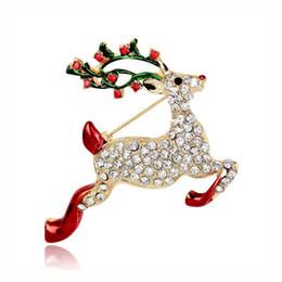 Bijoux sika en Ligne-Noël série broche bijoux chaud nouveau sika cerf broche haute qualité alliage de strass couple fête cadeau de noël
