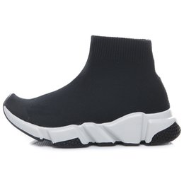 Wholesale new baby socks - New Fashion Baby Kids Shoes Socks Boots Children Athletic Shoes Slip-On Casual Flats Speed Trainer Sneakers Boy Girl High-Top Running Shoes