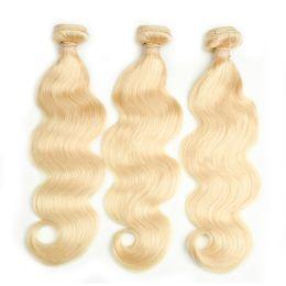 Grade 8A 613 Blonde Péruvienne Remy Cheveux Humains Bundles Corps Vague Armure de Cheveux 3 ou 4 PCS 100% Extension de Cheveux Humains Livraison Gratuite ? partir de fabricateur