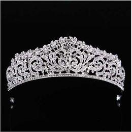 2019 королевский цвет волос Свадьба тиара Корона Королева женщины свадебные аксессуары для волос головной убор волос ювелирные изделия невесты аксессуары оголовье