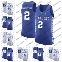 Wholesale Pj S - Kentucky Wildcats 2 Jarred Vanderbilt 15 DeMarcus Cousins 22 Shai Gilgeous-Alexander 25 PJ Washington NCAA College Basketball Jerseys