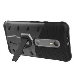 Cajas de teléfono moto g3 online-Sniper Hybrid Robot Armor ShockProof 360 Kickstand Atrás Funda para teléfono móvil suave Funda para motorola Moto G3