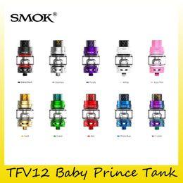 Wholesale Head Top Baby - Authentic SMOK TFV12 Baby Prince Tank 4.5ml Capacity Top Vape Atomizers For Original Smoktech TFV8 Baby Head Coil 100% Genuine 2218114