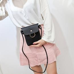 Pequeños bolsos para teléfonos celulares online-Mini mujeres Crossbody del teléfono celular de bolsillo pequeño Lady Small Messenger Bag Hasp bolso de la muchacha MC79401