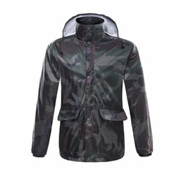 Wholesale Green Rainwear - Wholesale riding rainwear outdoor fishing mountaineering clothes men's and women's separate raincoat mix and match allowed