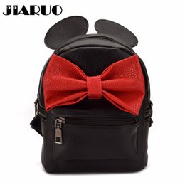cute back school bags Coupons - JIARUO Cute Bow Women Leather Backpack  Daily back pack For 6b6105a8bb866