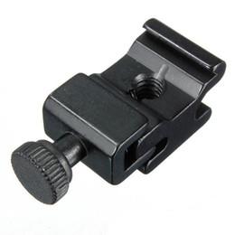 Vis adaptateur pour caméra en Ligne-Adaptateur de monture de sabot flash pour appareil photo en métal avec bloc de siège de vis 1/4 adaptateur pour support de support de flash pour trépied de caméra