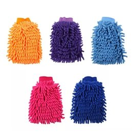 Wholesale Thick Microfiber Cleaning Cloths - Car Washing Cleaning Gloves Double Side Chenille Washer Tool Super Mitt Microfiber Cleaning Cloth Wholesale Free Shipping bb275-281 20171228