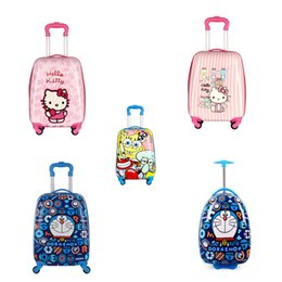 "Wholesale children luggage - Child Animal School Bag Tourism Luggage Suitcase Cartoon 18"" Kids Travel Trolley Case Boarding Box Children Gift"