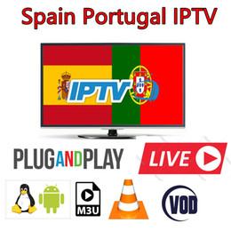 Récepteur hd en Ligne-Europe Espagne Portugal Abonnement IPTV 400+ vod Live incluent HD onze chaînes sportives sur Smart TV android tv box