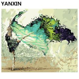 пейзаж Скидка YANXIN DIY рамка живопись by Numbers масляная краска стены искусства фотографии декор для украшения дома E905