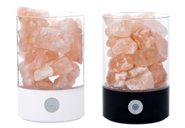 Wholesale Negative Ions Lamp - New Himalaya salt lamp, increase the content of air negative ion, restrain radiation, help sleep, 7 color night lamp