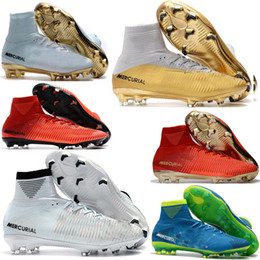 Wholesale Indoor Soccer Sneakers - Original Cristiano Ronaldo CR7 Football Boots Champions Mercurial Superfly SX Neymar Sneakers Soccer Cleats Magista Obra Soccer Shoes