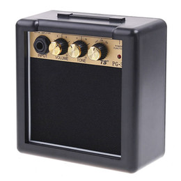 Wholesale guitars amps - 3W MINI AMP Portable Electric Guitar Amplifier Amp Acoustic Guitar Amplifier