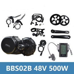 Wholesale Kit Motor For Electric Bike - 2018 Bafang 8Fun BBS02B 48V 500W Electric Bicycle Motor Electric Bike Accessory Kit with Color Display C965 for Electric Bikes