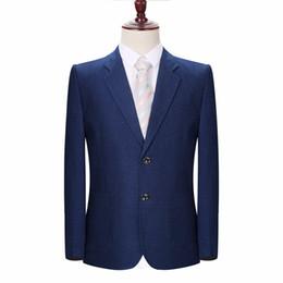 Wholesale notch collar slim fit suits - Man Busines Casual Blazer Black Navy Blue Purple Jacket Suit Men Notched Collar Blazers For Men Elegance Outfits Slim Fit Suit