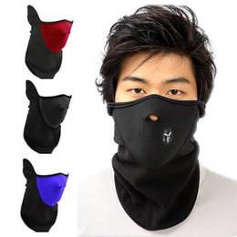 Wholesale Mask For Skiing - New Thermal Neck warmers Fleece Balaclavas Windproof Face Mask For Motorcycle Balaclavas CS Hat Headgear Winter Skiing Ear