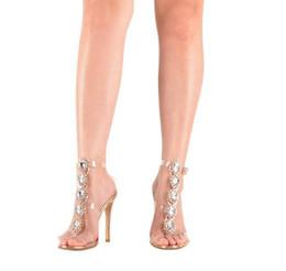 Cristal Diamant Femmes Sandales D'été 2019 Transparent Fashion Night Out Sandales Chaussures Talons Aiguilles Femmes Pompes Robe De Noce Robe ? partir de fabricateur