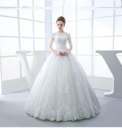 coluna de bainha vestido de casamento baixa volta Desconto Custom Made vestido de Baile Tule de Renda Fina Romântico Longo Formal Vestidos De Casamento De Noiva Vestido De Casamento 2018 Vestidos De Novia