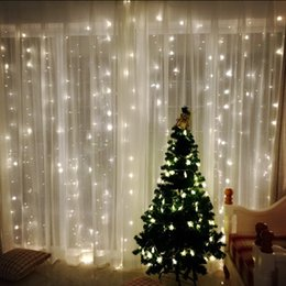 Wholesale christmas waterproof led waterfall light - 6m x 3m Led Waterfall Outdoor Fairy String light Christmas Wedding Party Holiday Garden 600 LED Curtain Lights Decoration EU.US.plug