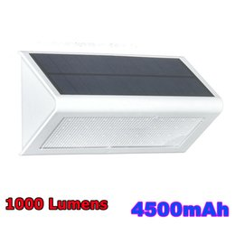 Wholesale Led Wall Lighting - Solar Powered Light Outdoor Microwave Radar Sensor LED Wall Light Garden Lamp ABS+PC Cover 1000lm Waterproof Bulb