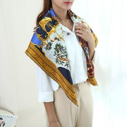 gros carrés de soie Promotion Incroyable Design Large Square 100% Soie  Echarpe Châle Hijab 88 e6d55254c7c