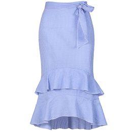 93c507e0a9 lace petticoat skirt Coupons - 2018 Women Girl Stirped Ruffles Summer  Autumn Clothing Suit Petticoat Fashion