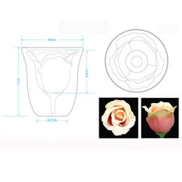 Al por mayor-Glantop Rose Copa de cristal? Copas de vino tinto Tazas creativas Tazas Regalo 180ML desde fabricantes