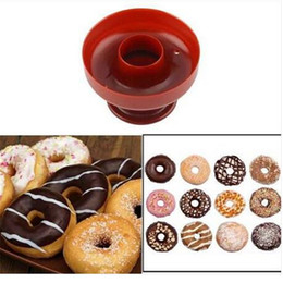 2019 schokoladentiere formen Kostenloser versand Kunststoff Donut DIY Donut Maker Cutter Form Desserts Bäckerei Backform Werkzeug Backformen Backformen