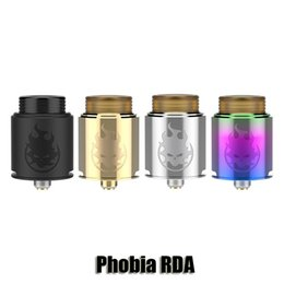 Wholesale Metal Sides - 100% Original VandyVape Phobia RDA 24 mm Diameter Rebuildable Dripper Atomizer Bottom SIde Airflow Tank With 810 Thread Drip Tip