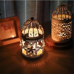 chá de aves Desconto Chegam novas Bird Gaiola Decoração Castiçal Castiçal Suporte de Vela Arte Do Ferro Chá Luz Decoração Da Casa de Casamento