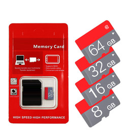 Wholesale 16gb Sd Card Free Shipping - 2018 Genuine HOT!!! 16GB 32GB 64GB Micro SD Card SDXC C10 TF Card Micro SD Card with retail package free shipping