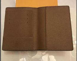 Diseñador de lujo PASSPORT COVER Marrón Mono Gram Lienzo de cuero Blanco Negro a cuadros Eip cuero Envío gratuito Monederos desde fabricantes