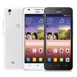 teléfonos dual sim huawei Rebajas Quad core 4G red Ram 1GB Rom 8G desbloqueado huawei honor teléfono inteligente 5 pulgadas G620S teléfono celular Android con WIFI GPS Bluetooth