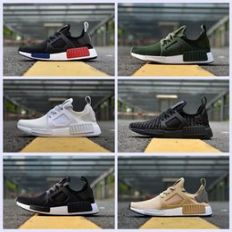 Wholesale camo cheap - 2017 NMD_XR1 PK Running Shoes Cheap Sneaker NMD XR1 Primeknit OG PK Zebra Bred Blue Shadow Noise Duck Camo Core Black Fall Olive