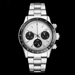 9c09ea505cb 2018 Relógio De Luxo Homens Cronógrafo Do Vintage Perpétuo Paul Newman  Japonês De Quartzo De Aço Inoxidável Homens Mens Relógios Relógios De Pulso