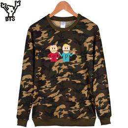 standard park Australia - BTS South Park Camouflage Capless Mens Hoodies And Sweatshirts Fashion Khaki Funny Cartoon Sweatshirt Men Hip Hop Casual Clothes