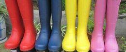 Wholesale Boots Rains - 2018 new Tall Rain Boot Women Wellies Rainboots Ms. Glossy Wellington Rain Boots Wellington Knee Boots Fast Delivery