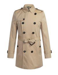 Wholesale Korean Overcoat Mens - 2017 Mens Trench Coat Spring Windbreaker Korean Style Runway Fashion Jacket High Collar British Plaid Men Long Black Overcoat