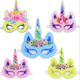 2019 bandiera 12x18 Bambino maschera cosplay unicorna bambino Halloween cos maschera festa (3 pz / lotto)