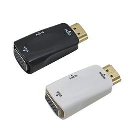 câble usb b angle gauche Promotion Mâle à femelle pour convertisseur HDMI vers VGA avec câble audio pour adaptateur de support de tablette pour ordinateur portable PC 1080p HDTV