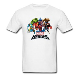 Chemise spiderman blanche en Ligne-Marvel Heroes 2018 Team T-shirt 3D Anime Tops Hommes Movie Blanc Tee Shirts Spiderman Superman Hip Hop Streetwear