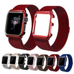 Magnetische Milanese Loop Band 42mm 38mm Gliederarmband Edelstahlarmband Gürtel Metall Armbanduhr Schnalle für Apple Watch iWatch Serie 1 2 3 von Fabrikanten