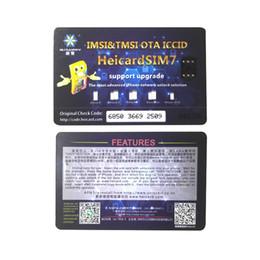 Tarjetas sim de marca online-Nuevo modelo de Heicard ICCID Desbloqueo para iPhone Instalación fácil Desbloqueo de tarjeta SIM Black Chip Sprint ATT AU Precio de fábrica DHL gratis