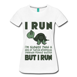 a7062eee90f Tee-shirt pour femme Running Running Motivation Turtle Tee-shirt pour femme  T-shirt Pas Cher En Gros Femme Harajuku Drôle Tops Tee Plus Taille Harajuku